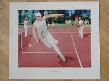 Art Deco Jupp Wiertz Original Lithographic Poster 1929 Tennis