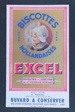 BUVARD BISCOTTES EXCEL Grand prix Liège 1930 blotter Löscher