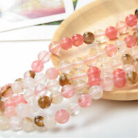 """Lots 6-12mm Natural Round Watermelon Crystal Spacer Beads Loose Bead 15"""""""