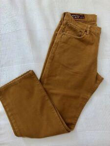 Vintage Marlboro Classics Pantalone Uomo Tabacco Mostarda 48 W34 L34 100% Cotone