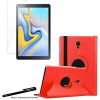 Housse Etui Rouge pour Samsung Galaxy Tab A 10.5 SM-T590 + Vitre de protection
