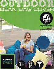 LIVING SPACE OUTDOOR BLUE (TEAL BLUE GREEN) BEAN BAG COVER NEW