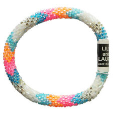"""LILY and LAURA """"Spring Break"""" Hand Crocheted Bead Stretch Bracelet Made in Nepal"""
