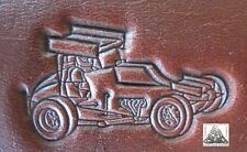 Detailed Dirt Track Sprint Car Embossing Plate Leather Stamp Outlaw Series #4
