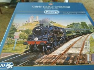 Gibsons Corfe Castle Crossing jigsaw 500 pieces