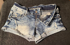 Womens Shorts Almost Famous Size 9 Low Rise Shortie Shorts Distressed Free/Ship