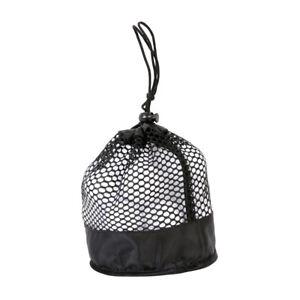 2pcs Golf Ball Bags Durable Black Mesh Drawstring Bags Storage Bags for Tennis