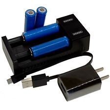 Universal USB Charger +4 pc x 3.6V Lithium Li-ion AA 14500 Rechargeable Battery