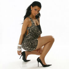SEXY abito VESTITO leopard fascia nera effetto TOP tg. s o m fashion GLAMOUR