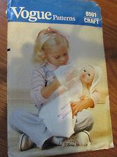 VTG Vogue Sewing Pattern 8591 Baby Doll Accessoies Bib Bunting Towel Mitt Uncut