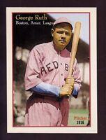 Babe Ruth rare pitcher card, '16 Boston Red Sox, rare original Miller Press