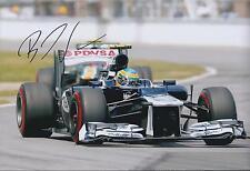 Bruno SENNA SIGNED Formula 1 WILLIAMS BRAZIL 12x8 Photo AFTAL COA Autograph