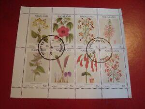 NAGALAND - 1972 WILD FLOWERS - MINISHEET - UNMOUNTED USED MINIATURE SHEET