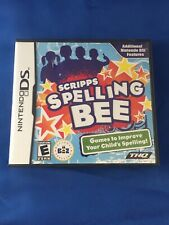 Nintendo Ds Scripps Spelling Bee Training Video Game Complete Very Good