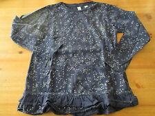 Tee-shirt/Sweat,Bleu nuit et étoiles argentées,ML,T8ans,marque Okaidi,NEUF!