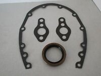 SMALL BLOCK CHEVY TIMING COVER GASKET AND SEAL KIT SBC 283 327 350 383 #9085