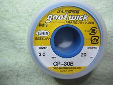 1 Piece 3.0mm*20m 3.0mmx20m CP-30B Desoldering Goot Wick Japan Original RoHS