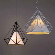 2x Geometric Diamond Caged Ceiling Pendant Light Shade Easy Fit Lampshade