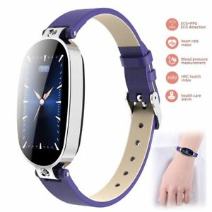 Women Lady Smart Watch ECG PPG Bracelet Fitness Tracker for iPhone Samsung A9 A8