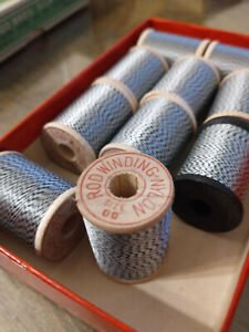 9 spools Sunsets Size 00 Nylon Classic White Black Twist Rod Winding Thread