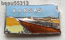 KANSAS USA STATE  VEST JACKET HAT TAC BIKER PIN