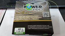 1 Spool Power Pro Super 8 Slick Aqua Green 40 Pound - 150 Yards NEW