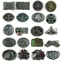 Cool 1PC Western Men's Leather Belt Buckle Metal 20  Kinds of Pattern Hot New