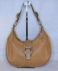 COACH Hampton Hobo Buckle Leather Brown Tan Purse Bag 7548