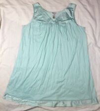 New listing Vintage Vanity Fair Sleeveless Nightgown And robe set Teal Xxl