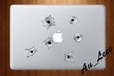 Macbook Air Pro Vinyl Skin Sticker Decal - 3D Gun Shot Bullet Hole  #CMAC018