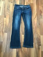 Women's Maurices Jeans Size 3/4 Short  Thick White Stitch Distressed