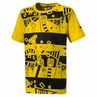Puma Fußball Borussia Dortmund BVB Fanwear Kids T-Shirt Kinder Tee gelb schwarz