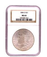 1884-O Morgan Silver Dollar NGC MS 64