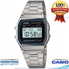 Casio A158WA-1 Men's Classic Stainless Steel Water Resistant Digital Watch New