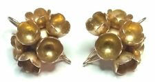 "Liisa Vitali by Nils Westerback Finland - 14k Gold ""Spring"" Earrings from 1971"