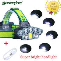 New 80000Lumen 8modes T6 Headlamp Headlight Torch Waterproof Focus Durable Light