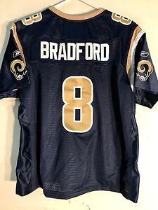 Reebok Women's Premier NFL Jersey St. Louis Rams Sam Bradford Navy sz L