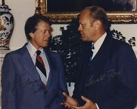JIMMY CARTER & GERALD FORD SIGNED AUTOGRAPHED COLOR 8X10 PHOTO