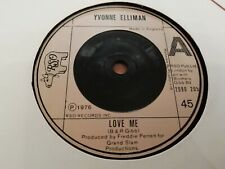 "YVONNE ELLIMAN * LOVE ME * 7"" FUNK SINGLE VERY GOOD 1976"