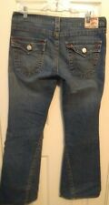 True Religion Flare Leg Flap Pocket Jeans Women's Size 32/32 Joey Made in USA