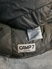 CAMP 7 VINTAGE 80'S THICK DOWN FILLED Brown MUMMY SLEEPING BAG
