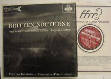 BENJAMIN BRITTEN & PETER PEARS LONDON FFRR STEREOPHONIC LP BRITTEN NOCTURNE / M-