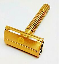 Espresso Double Edge Safety Razor Improved Weishi 9306 Shaving Blade & Stand.