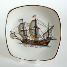 MIDWINTER HISTORIC SHIPS DRAKE'S GOLDEN HIND 1577 PIN TRAY PICKLE DISH SHAPE F42
