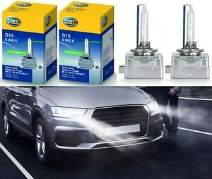 Hella HID Xenon D1S 5000K White Two Bulbs Head Light Bi-Xenon Replace Upgrade OE