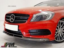 W176 B Style Carbon Fiber Front Lip Spoiler For 13-14 A180 A250 AMG / A45 CF