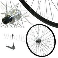 "26"" Mountain Bike DISC Rear Wheel Cassette Hub TWR116BK Black Rim / Silver Hub"