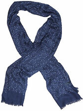 PAUL SMITH SPOTTED LIGHTWEIGHT MODAL NAVY SCARF BNWT VERY RARE made in Italy