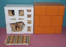 Friends Of The Feather Picnic Set 1998 By Enesco #516627 Karen Hahn - Blanket