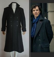 Sherlock Holmes Cape Coat Costume Cosplay Wool Custom size